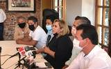 Tania Valentina explicó que su partido recibió una impugnación por el uso de los arcos cuyo fin, reiteró, es proteger la salud de los morelenses
