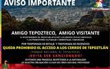 Se prohíbe el acceso a los cerros de Tepoztlán