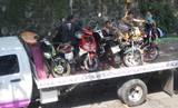 Operativo contra motos afuera del IMSS Plan de Ayala Cuernavaca Morelos