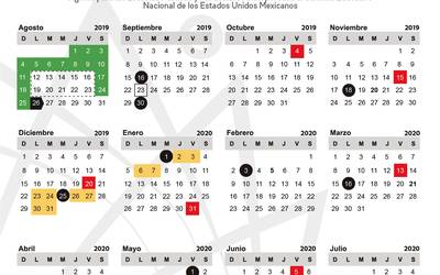 Calendario Verano 2020.Publica Iebem Calendario Escolar 2019 2020 Para Morelos El Sol De