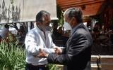 El presidente municipal en funciones y el recién electo abordaron temas relacionados con la entrega-recepción