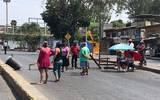 Los residentes salieron a las calles para exigir el servicio por lo que cerraron la vialidad a la altura de la terminal de autobuses