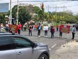 Los docentes aseguran que no se moverán del lugar hasta que el Instituto de Educación Básica del Estado de Morelos les dé una respuesta