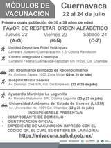 La población de Cuernavaca, Jiutepec y Cuautla, recibirán la primera dosis contra Covid-19