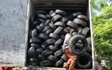 Una vez que se acumulan 20 toneladas de llantas desechadas, Cementos Fortaleza las recicla en Tula, Hidalgo