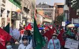 Este miércoles, medio millar de antorchistas salieron a las calles para reclamar al Ejecutivo la falta de apoyos