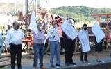 El gobernador de Morelos, Cuauhtémoc Blanco Bravo, abanderó el arranque de los trabajos en Atlatlahucan