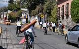 Ciclistas viajan rumbo a Chalma