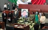 Congreso Morelos minuto de silencio en memoria del senador Morena Radamés Salazar Solorio