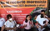 Soleda Solís, coordinadora estatal, adelantó que por el momento no tienen contempladas acciones de protesta masiva