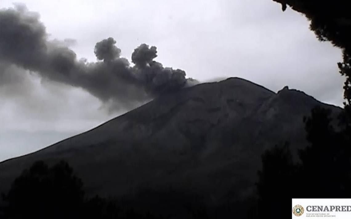 Lanza Popocatépetl constante emisión de ceniza - El Sol de Cuernavaca