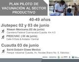 La inmunización se realiza este miércoles 2 y jueves 3 de junio en empresas de Jiutepec y Cuautla, informó la Brigada Correcaminos