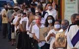 A un año de la pandemia, la Diócesis de Cuernavaca realiza la representación del Viacrucis en el primer cuadro